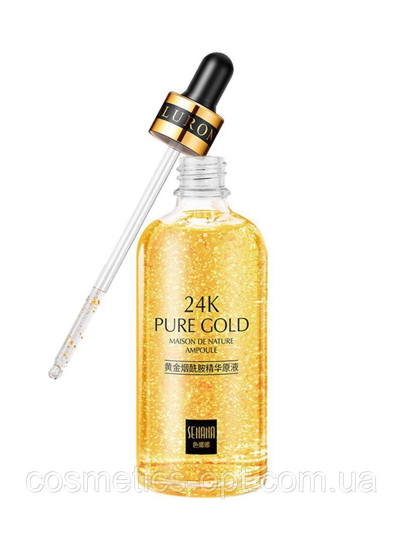 Сыворотка с частичками золота Senana 24K Pure Gold, 100 мл