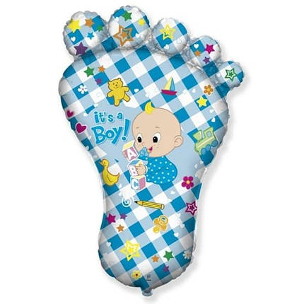 Фигура FLEXMETAL-ФМ Стопа / Ножка It's a Boy голубая (УП), фото 2