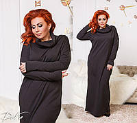 Женское теплое платье в пол большие размеры /р41189, фото 1