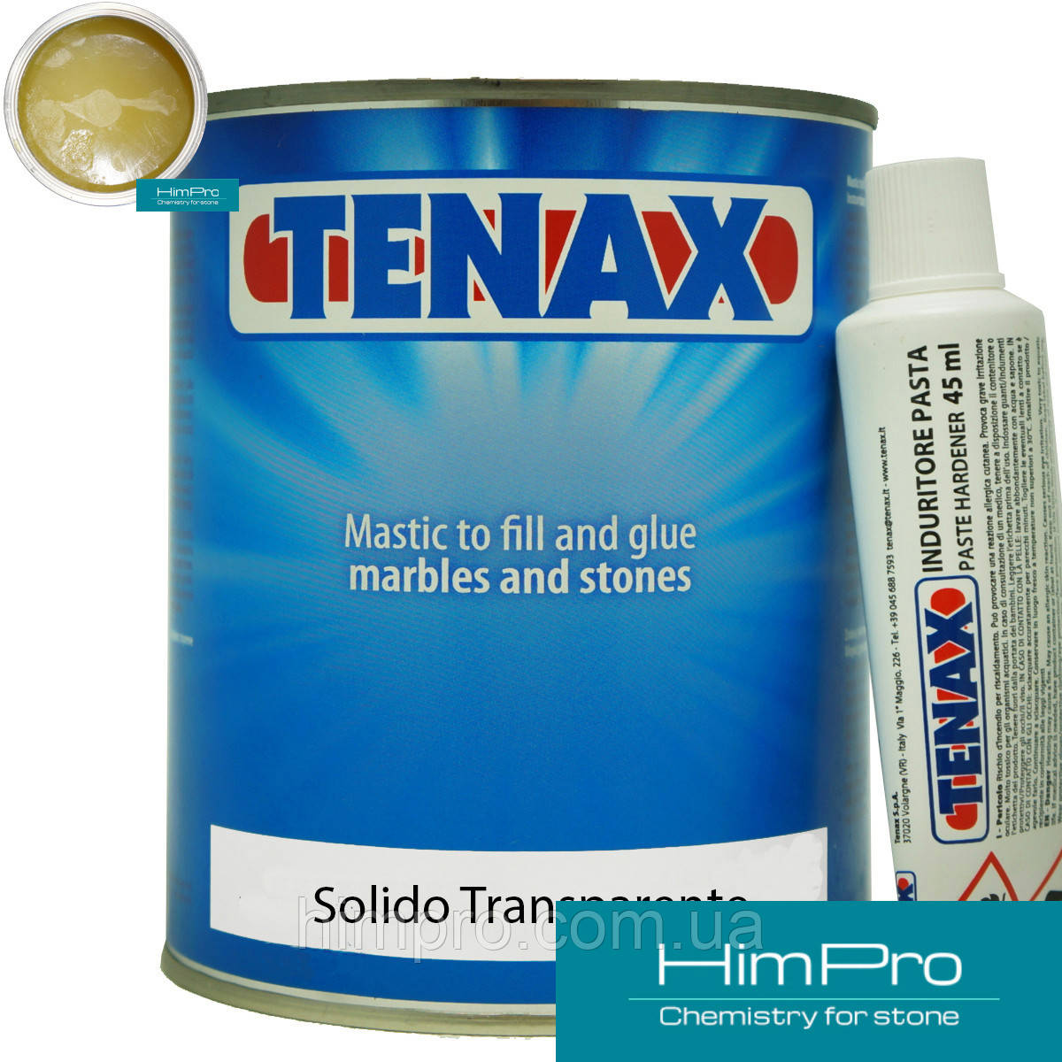 Solido Transparente 1L Tenax Поліефірний клей (медовий 1.1 кг)