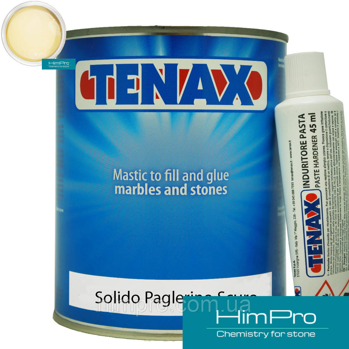 Solido Paglerino Scuro 1L Tenax полиэфирный двух-компонентный клей (темно-бежевый 1.7кг)