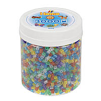 Термомозаика Набор цветных бусин, 3.000 шт. в банке, 6 цветов, MIDI 5+, Hama, фото 1