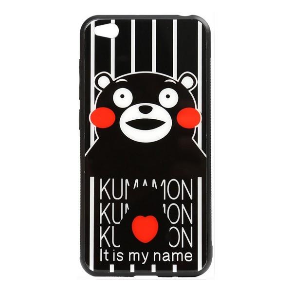 Накладка для Xiaomi Redmi Go TOTO Cartoon Print Glass Case Kumamon