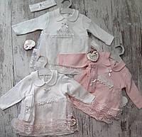 Костюм для малышек оптом 3-12 месяцев розовый
