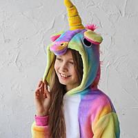 Детский кигуруми радужный единорог k0061