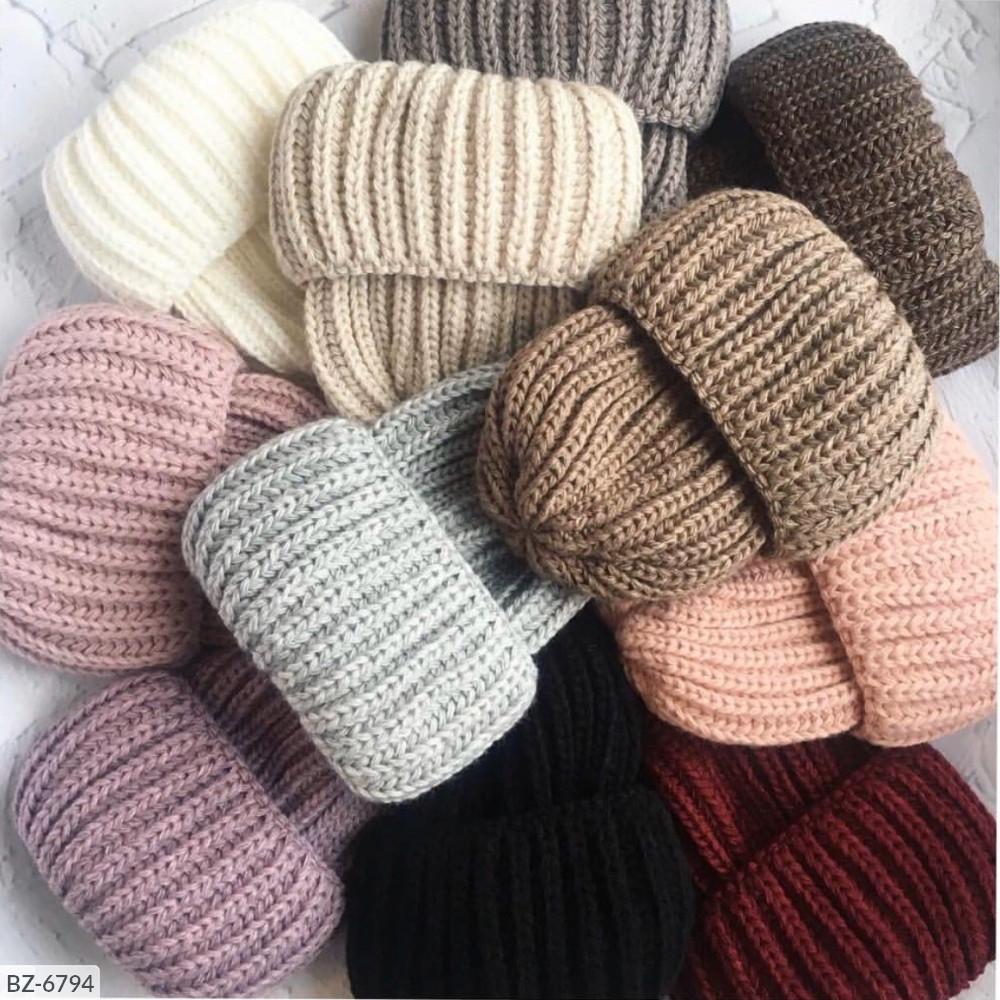 Шапка женская бомжатка теплая зимняя много цветов Новинка 2019
