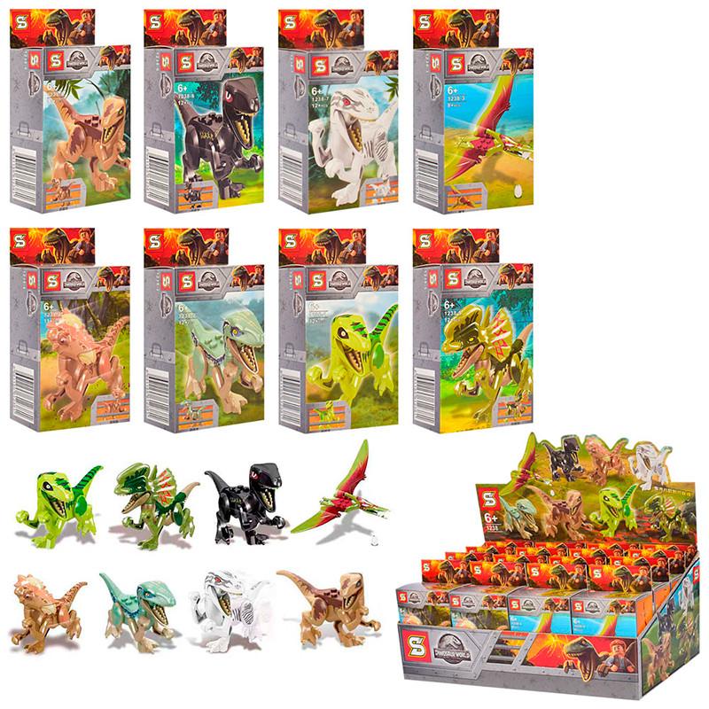 """Конструктор """"Dinoworld"""" Динозаври 1238 (8 видів)"""