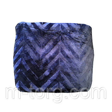 """Синий""Плед евро размер 220/240, микрофибра, фото 2"
