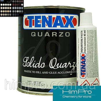 Quarzo Dark Beige 1L Tenax  Двухкомпонентный клей для кварца