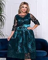Нарядное женское платье большие размеры Г05088, фото 1