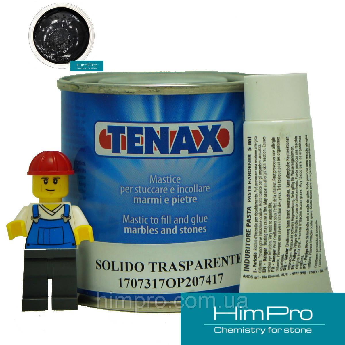 Solido Nero 0.125L Tenax Полиэфирный двух-компонентный клей (черный 0,2кг)