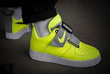 Мужские кроссовки Nike Air Force Utility 1 Volt Yellow ( Реплика ) Остался 41 размер, фото 3