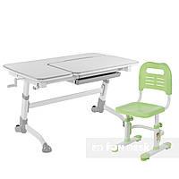 Комплект подростковая парта Amare Grey + детский стул SST3L Green FunDesk