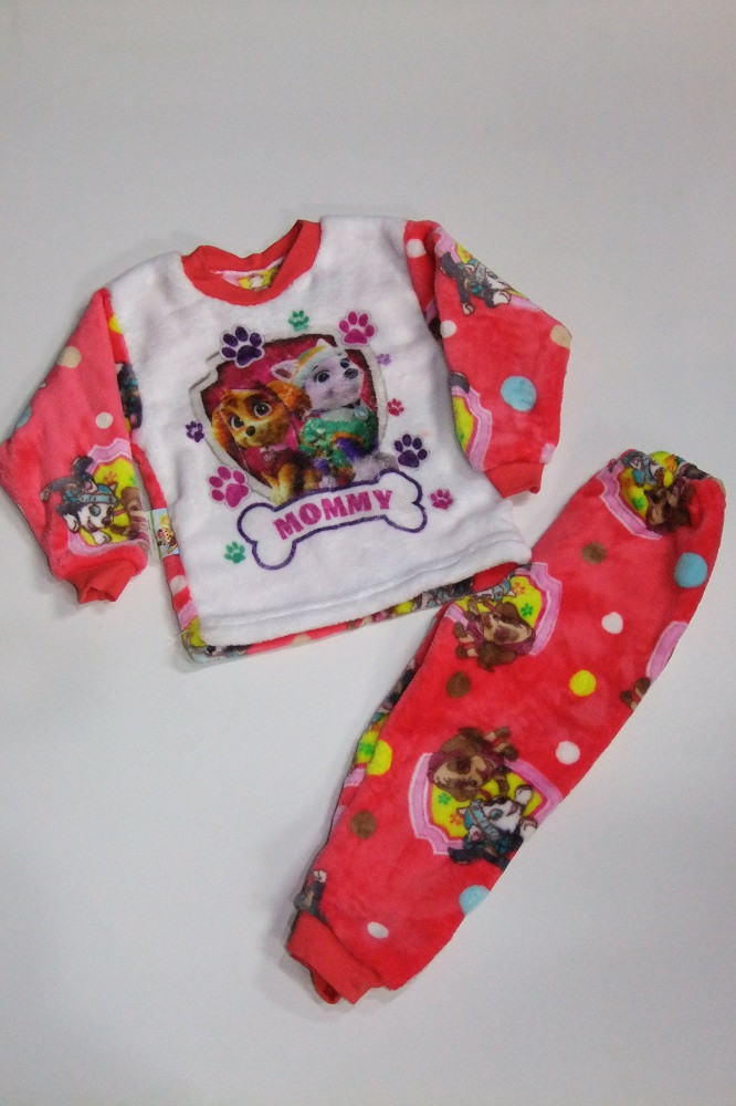 Пижама махровая на девочку  34 р  арт 1425 коралловая.