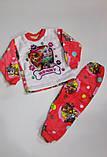 Пижама махровая на девочку  34 р  арт 1425 коралловая., фото 2