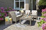 Набор садовой мебели Chicago Set With Wicker Lyon Table Cappuccino ( капучино ) из искусственного ротанга, фото 6