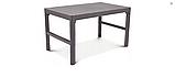 Набор садовой мебели Chicago Set With Wicker Lyon Table Cappuccino ( капучино ) из искусственного ротанга, фото 7