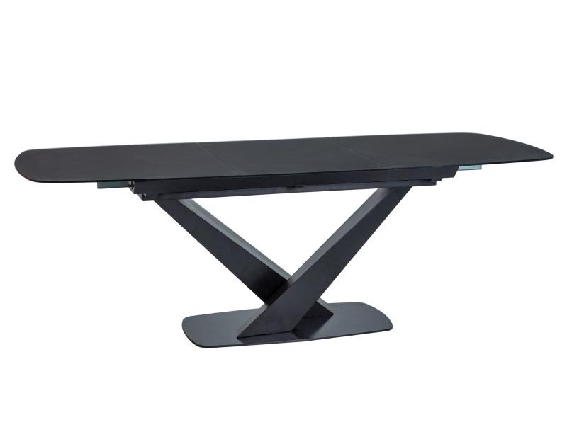 Стол CASSINO I CZARNY MAT 160(220)X90