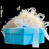 Коробка подарункова бірюзова (140*140*70)