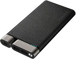 Зовнішній акумулятор PURIDEA X01 10000mAh Li-Pol +TYPE-C Leather Чорний