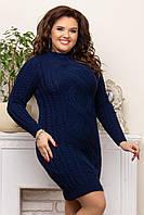 Платья большого размера р 44-54 синий, фото 1