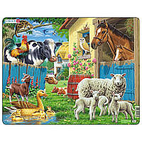 Пазл рамка-вкладыш Животные на ферме, серия МИДИ, Larsen, фото 1