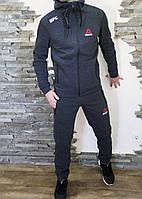 Спортивный костюм мужской утеплённый на флисе Reebok UFC серый