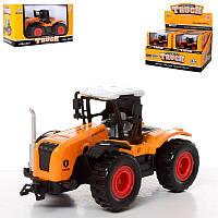 Трактор детский 933-16 металл, инерционный, 10,5 см