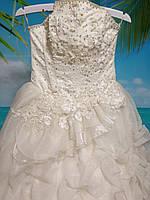 Свадебное платье цвет шампань 42-44-46 размер