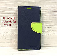 Чехол-книжка Goospery для Huawei LUA-U22 (Y3 II) Синий