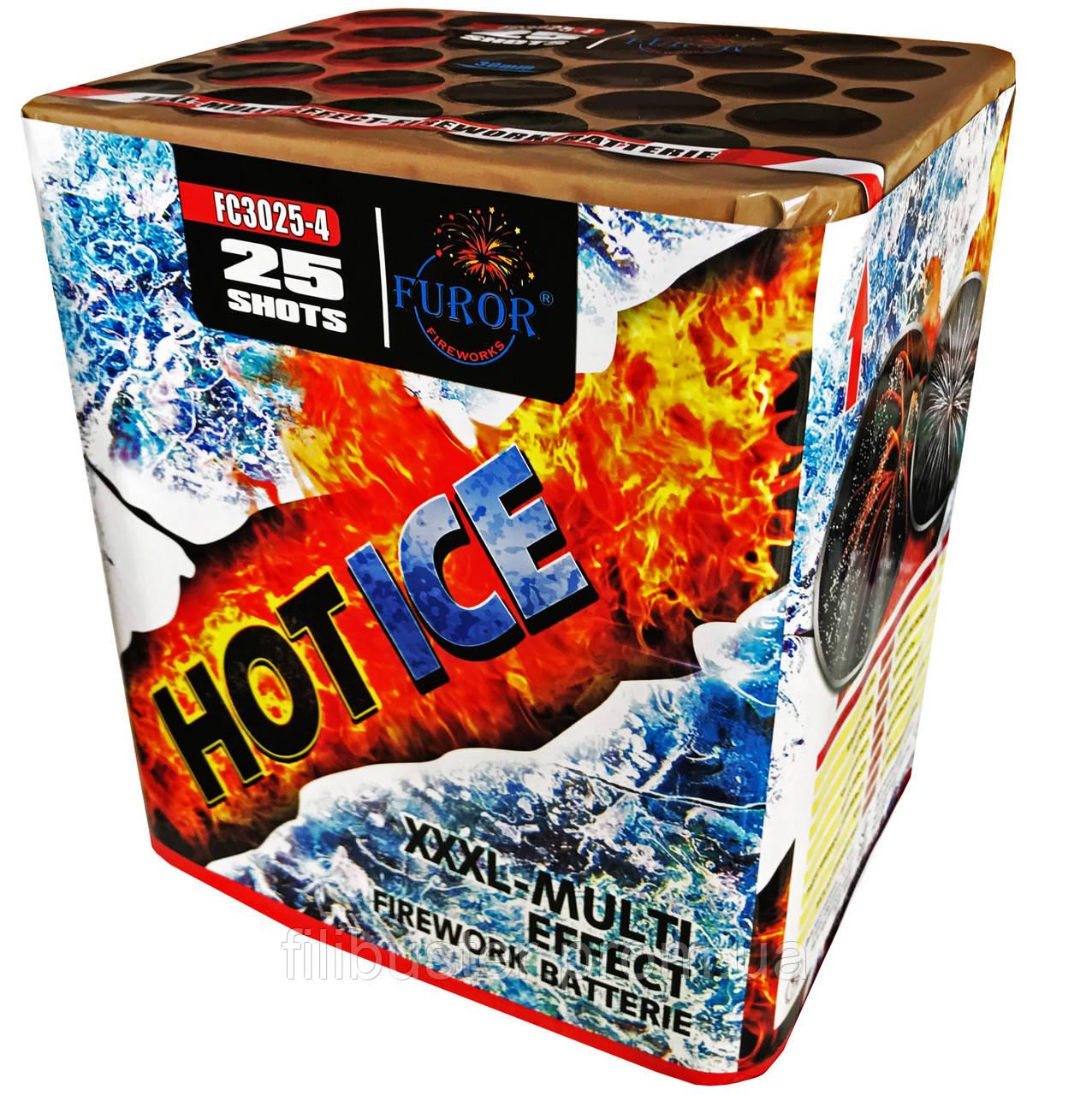 Салют Hot Ice на 25 выстрелов