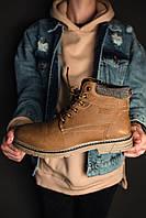 Мужские ботинки зимние без бренда brown на меху