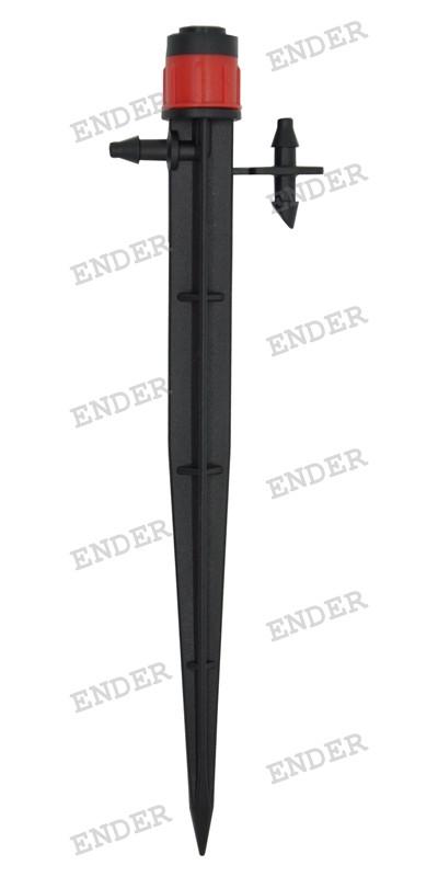 Регулируемая капельница Ender вихревого типа, на стойке, для капельного полива