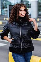 Теплейшая зимняя короткая женская куртка большие размеры ЧУ559