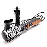 Фен щітка для волосся Стайлер Gemei GM-4828 Помаранчевий (5443)