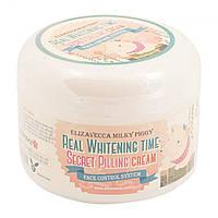 Пилинг-крем для лица от пигментных пятен Elizavecca Milky Piggy Real Whitening Time Secret Pilling Cream, 100 мл