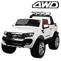 Детский двухместный электромобиль Ford Ranger, M 3573EBLR-1 белый