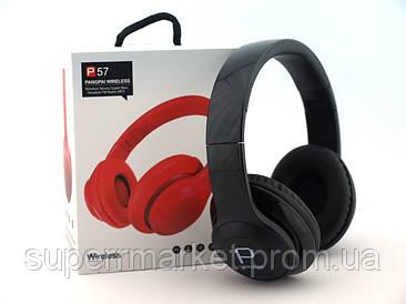 P57 wireless беспроводные наушники c bluetooth MP3 и FM, черные