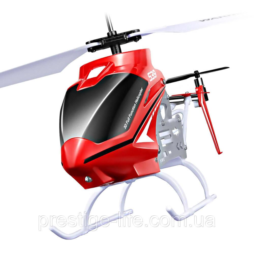 Вертолет на радиоуправлении S39 Raptor с гироскопом Красный