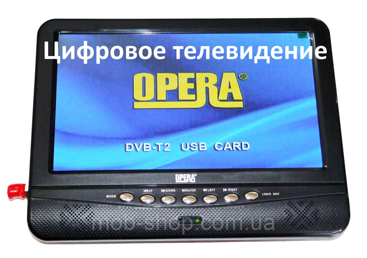 "Портативный телевизор Opera NS-901 Т2 USB 9,5"""