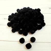 Помпончики, 1см, цвет черный, 50 шт.