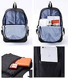 Фосфорный рюкзак школьный портфель мужской женский светящийся чоловічий жіночий Vjycnth, фото 5