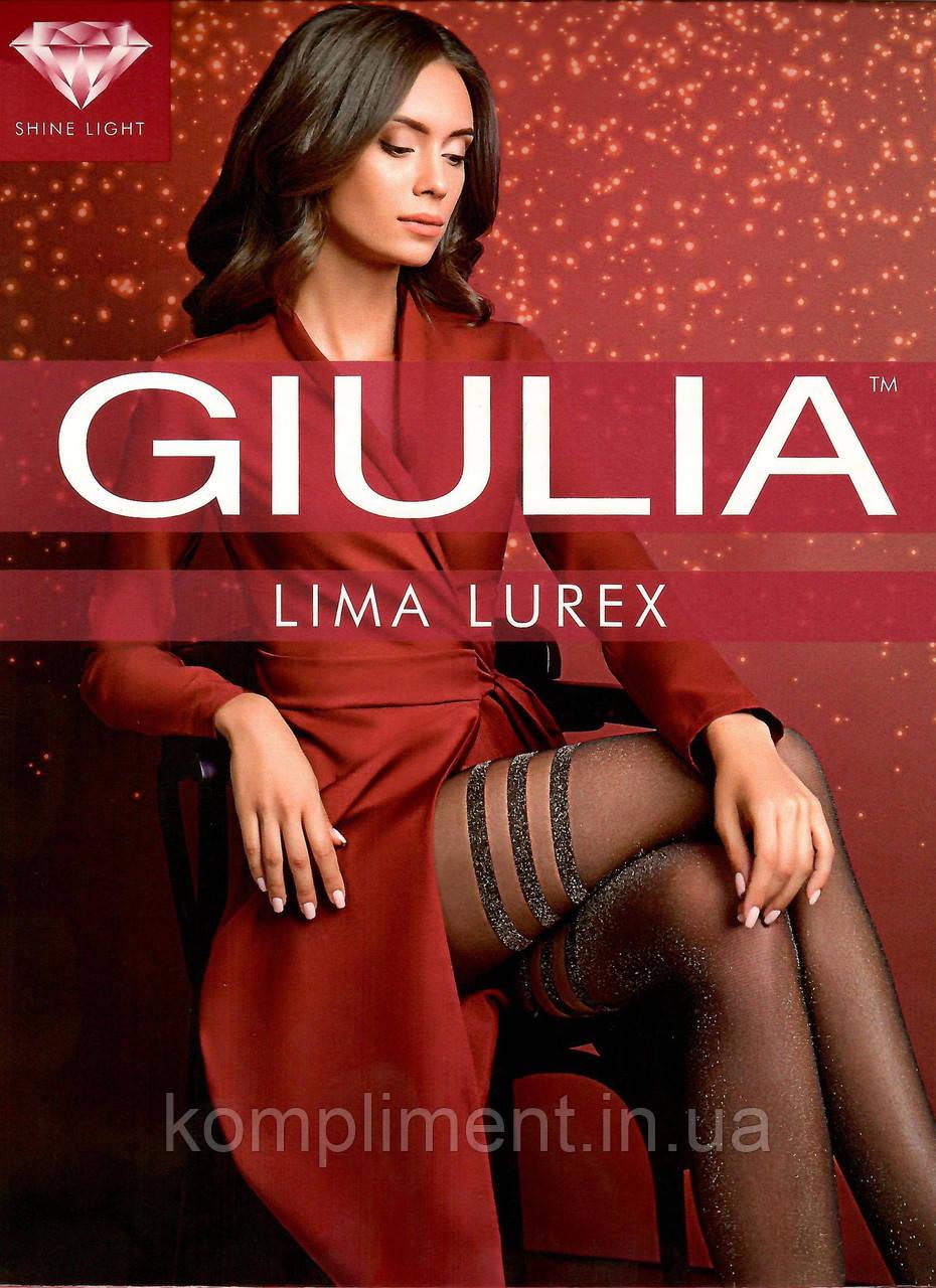Модные колготки с полосками и люрексом GIULIA  LIMA LUREX
