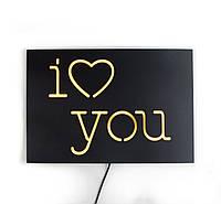 Настенная Led вывеска «I love you», фото 1