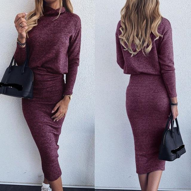 ангоровое платье миди