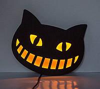Светящийся декор на стену LED вывеска «Чеширский кот», фото 1