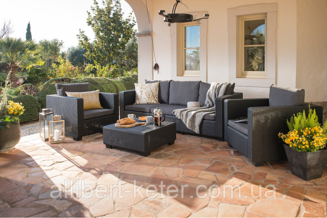 Набор садовой мебели Salta 3-Seater Sofa Set из искусственного ротанга