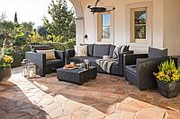 Набор садовой мебели Salta 3-Seater Sofa Set из искусственного ротанга, фото 1