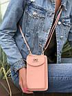 Сумка-клатч красная на ремешке с карманом для телефона, фото 4
