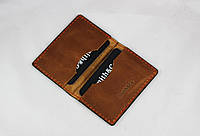 Кардхолдер кожаный светло-коричневого цвета